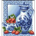 Cross stitch kit, 27cm x 30cm, 14 count (squares/inch), Complex, fruits, Mordern art, (CSY0558)